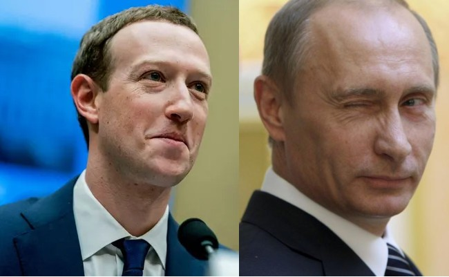 Putin il amendeaza pe Zuckerberg cu o suma fabuloasa