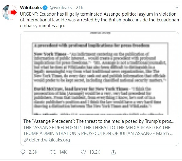 Arestarea lui Julien Assange, cofondatorul Wikileaks, o decizie controversata